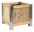 Robinia Exclusive Wooden Planter | Square