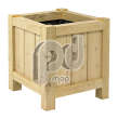 Robinia Wooden Planter | Square